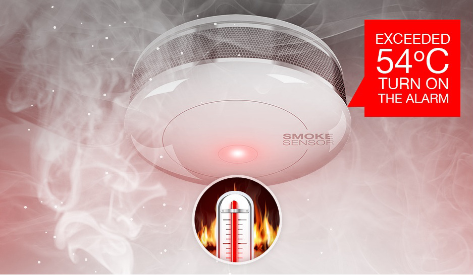 Fibaro dymový a teplotný senzor
