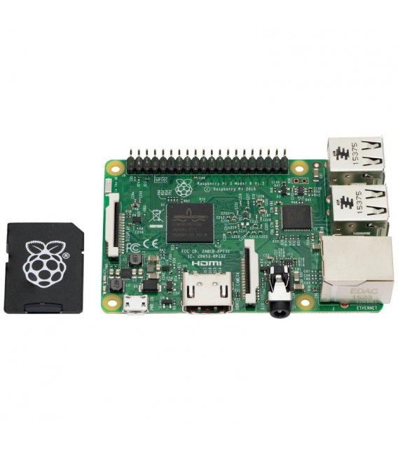 Raspberry Pi 3 Model B 1GB with 16GB SD Card NOOBS