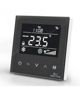 MCO Home Fan Coil Termostat - 4 Potrubný Čierny
