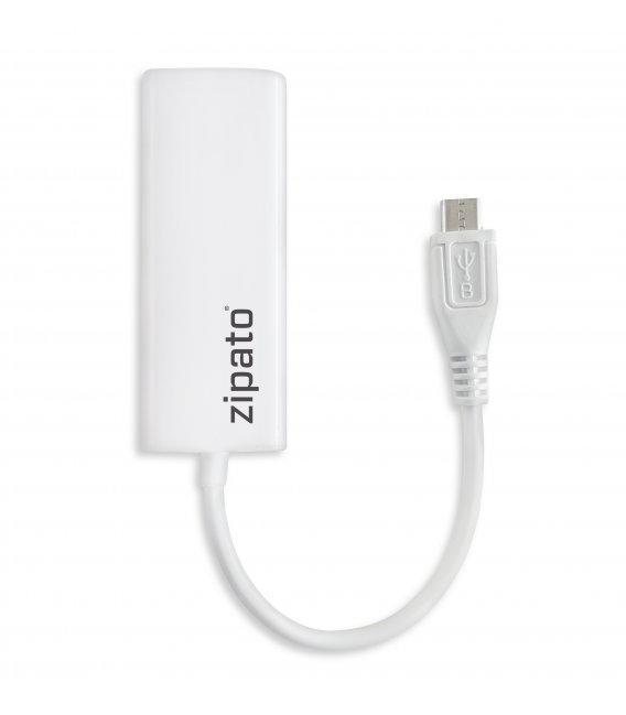 ZipaTile - redukce Mikro USB na Ethernet