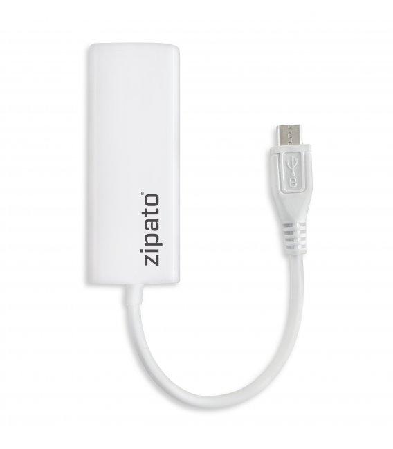 ZipaTile - redukcia Mikro USB na Ethernet