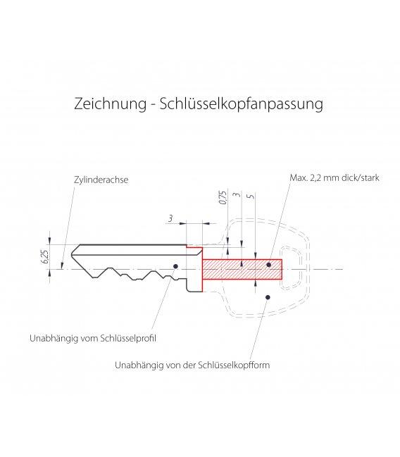 Danalock V3 mounting plate for existing locks