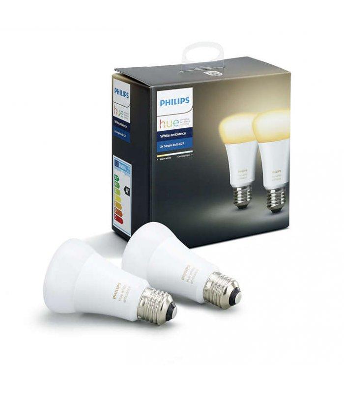 Philips HUE White ambiance 2x Single bulb E27 - LED bulbs- 2 x LED