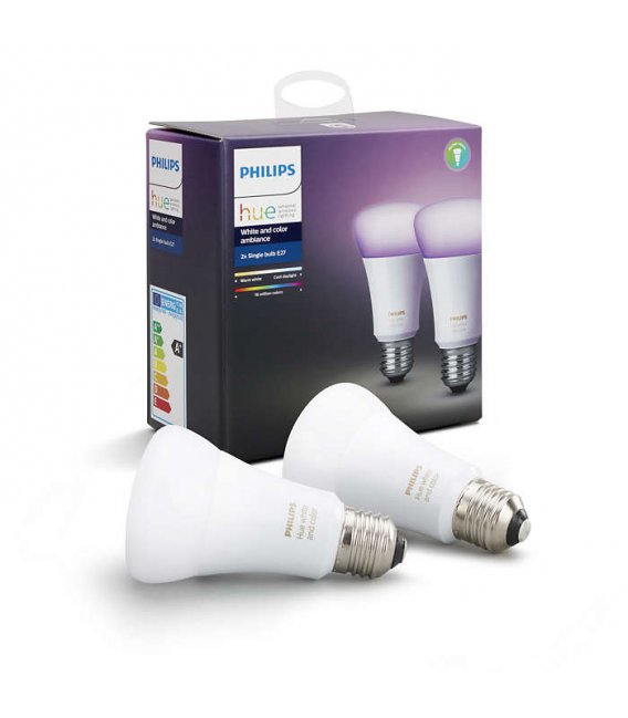 Philips Hue White And Color Ambiance 2x Single Bulb E27