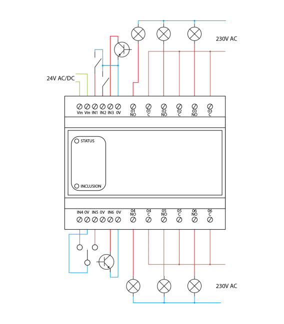 Heatit Z-DIN 616, DIN rail module