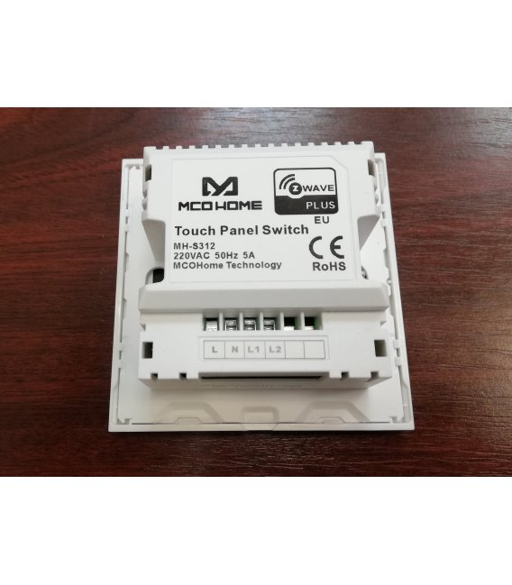 MCO Home Nástenný dotykový panel GEN5 (2 tlačidlá)