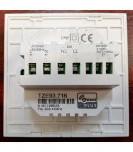 TKB Touch Screen Thermostat for Electric Floor Heating (TZE93.716)