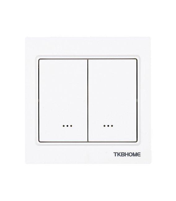 TKB Home vypínač s dvoma relé (Hranatý rámik) - Gen5 (TZ57)