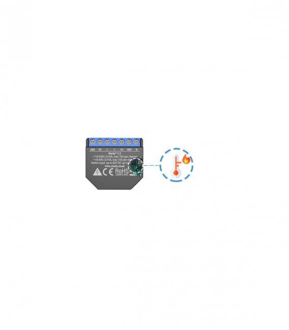 Shelly 2.5 - spínací/žaluziový modul s měřením spotřeby 2x 10A (WiFi)