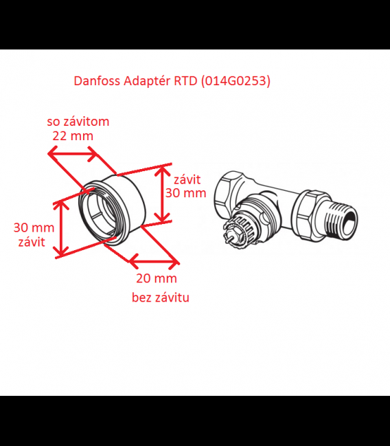 Danfoss Adapter RTD (014G0253)