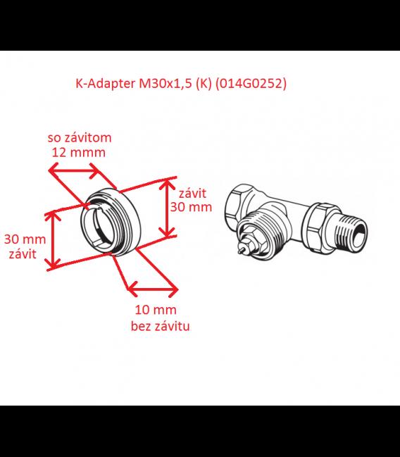 Danfoss Adaptér M30x1,5 (K) (014G0252)