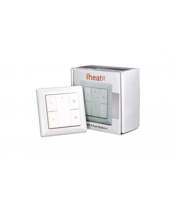HEATIT Z-Push Button 4 - White