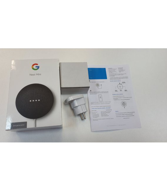 Google Nest Mini 2. generácia s EU adaptérom a slovenským manuálom