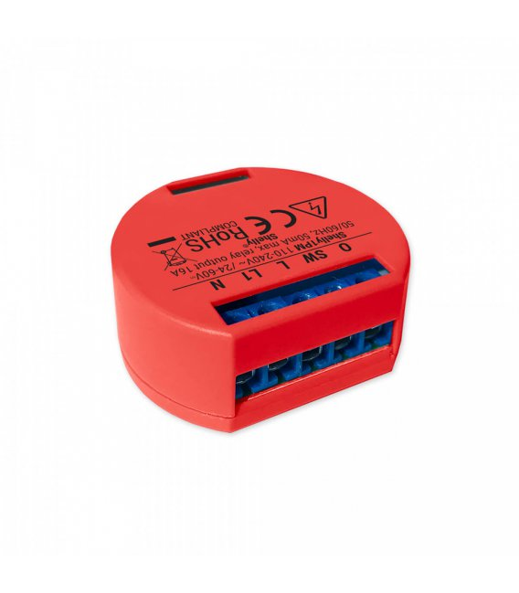 Shelly 1PM - relay switch with power metering 1x 16A (WiFi)