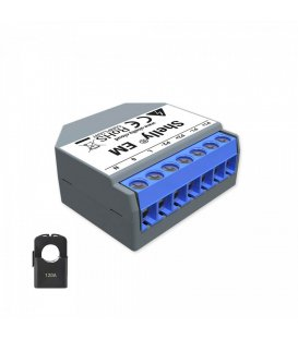 Shelly EM + 1x 120A clamp - power consumption measurement with up to 2 clamps up to 120A, output 1x2A (WiFi)