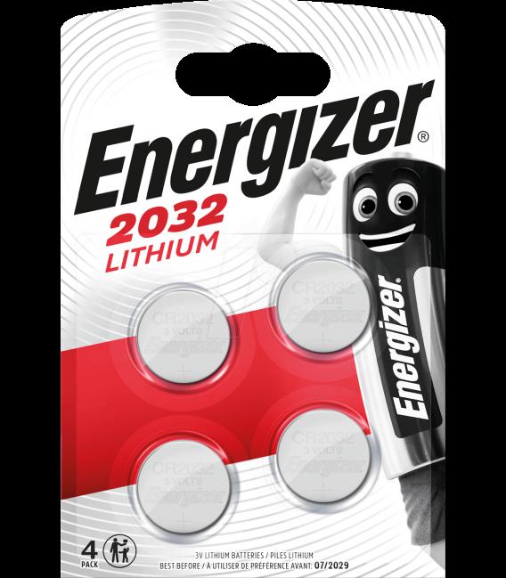Lithiová baterie Energizer CR2032 3V, 4 ks