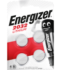 Lithium battery Energizer CR2032 3V, 4 pcs
