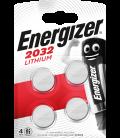 Lithium battery Energizer CR2032 3V, 4 pcs