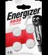 Lítiová batéria Energizer CR2032 3V, 4 ks