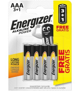 Alkalická batéria Energizer AAA-LR03 1.5V, PROMO 3+1 ks