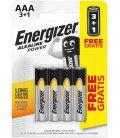 Alkaline battery Energizer AAA-LR03 1.5V, PROMO 3+1 ks