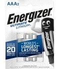 Lithiová baterie Energizer AAA-LR03 1.5V, 2 ks