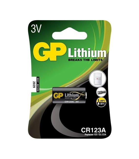 Lítiová batéria GP CR123A 3V, 1 ks