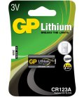 Lithium battery GP CR123A 3V, 1 pc