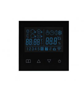 TKB Dotykový Termostat pre Elektrické Podlahové Kúrenie (TZE93.716) - Čierny