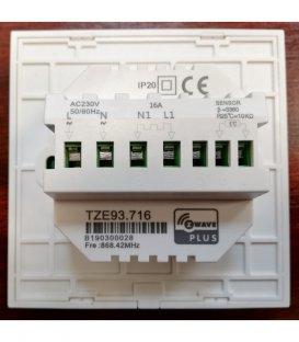 TKB Dotykový Termostat pro Elektrické Podlahové Topení (TZE93.716) - Černý