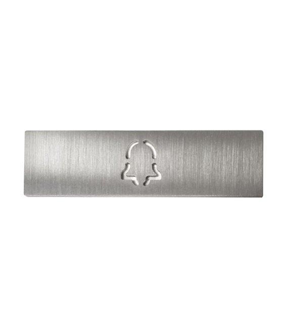 Štítek na jmenovku pro jedno tlačítko DoorBird D21X, s gravírovaným symbolem zvonku