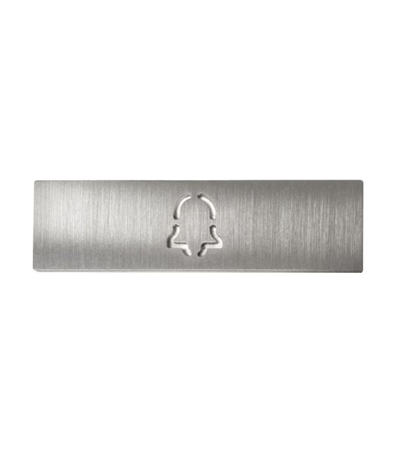 Štítok na menovku pre jedno tlačidlo DoorBird D21X, s gravírovaným symbolom zvončeka