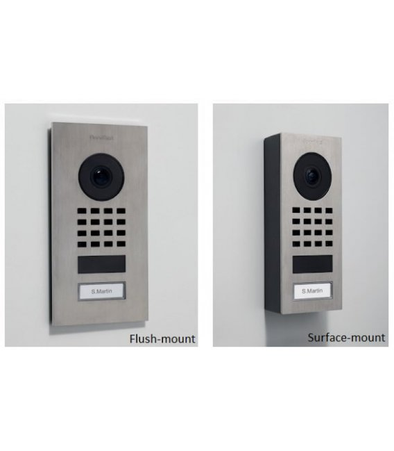 DoorBird D1101V, Surface-mount, Stainless steel V2A, Brushed