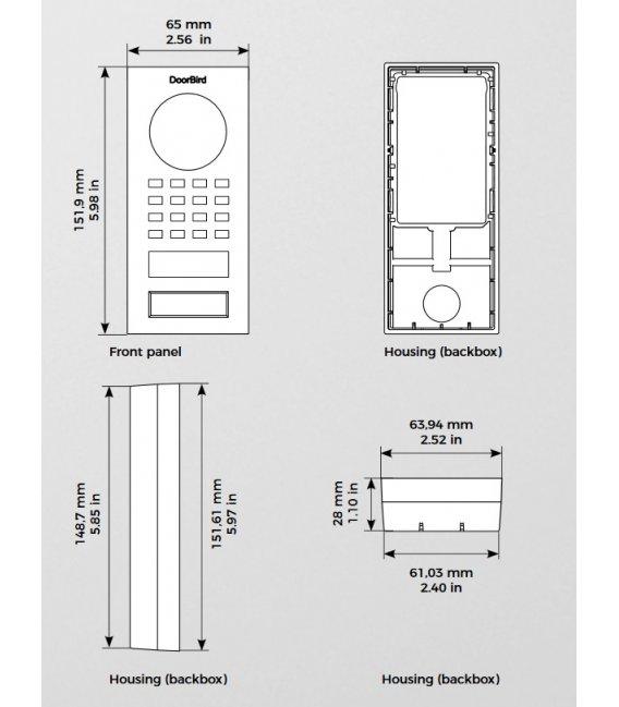 DoorBird D1101V, Povrchová montáž, Nehrdzavejúca oceľ V2A, Leštený