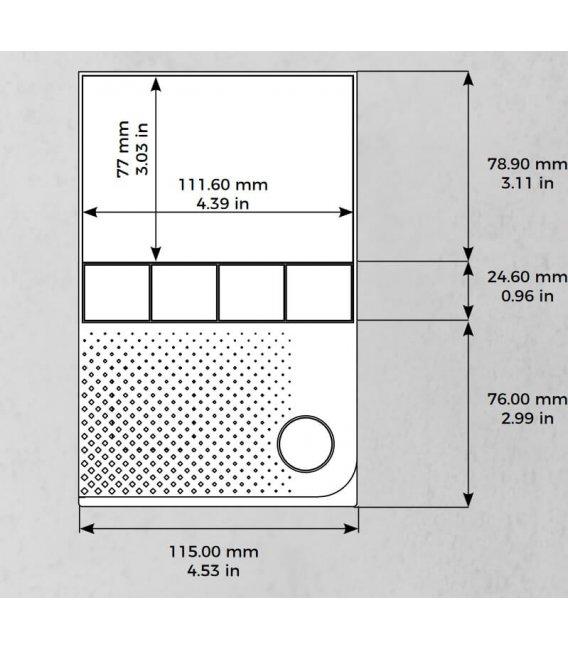 DoorBird IP Vnútorná jednotka A1101, Povrchová montáž