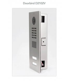 DoorBird IP Video Door Station D2102V, Flush-Mounting, Stainless Steel V2A, Brushed