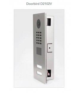 DoorBird IP Video Door Station D2102V, Flush-Mounting, Stainless Steel V2A, Brushed