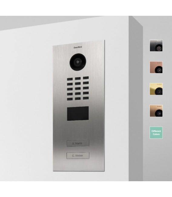 DoorBird IP Videovrátnik D2102V, Zapustená montáž, Nerezová oceľ V2A, Brúsená