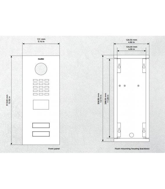 DoorBird IP Videovrátný D2102V, Zapuštěná montáž, Nerezová ocel V2A, Broušená