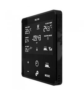 HELTUN Heating Thermostat (HE-HT01-MKK), Z-Wave termostat pre elektrické kúrenie, Čierny