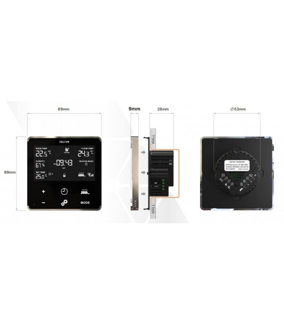 HELTUN Heating Thermostat (HE-HT01-GKK), Z-Wave termostat pro elektrické topení