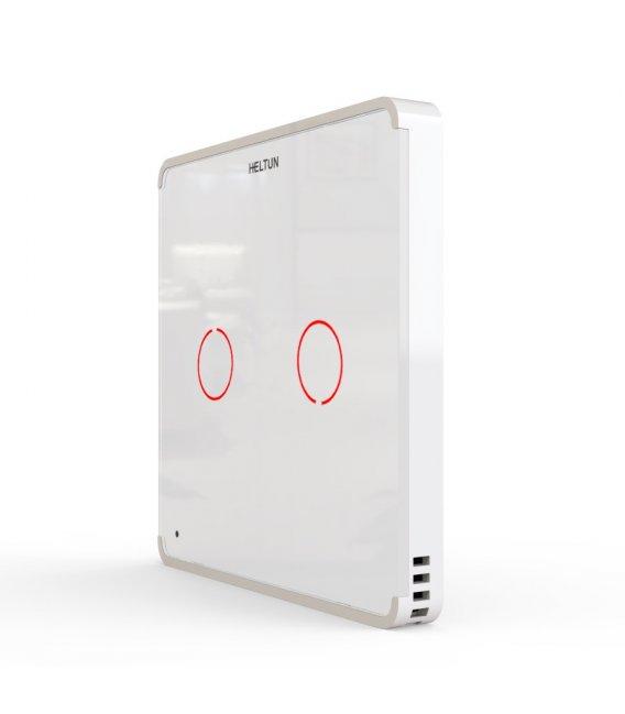 HELTUN Touch Panel Switch Duo (HE-TPS02-WW), Z-Wave nástenný vypínač 2 tlačidlá
