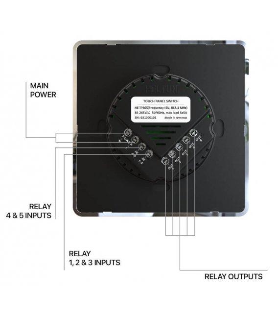 HELTUN Touch Panel Switch Duo (HE-TPS02-GKK), Z-Wave nástěnný vypínač 2 tlačítka