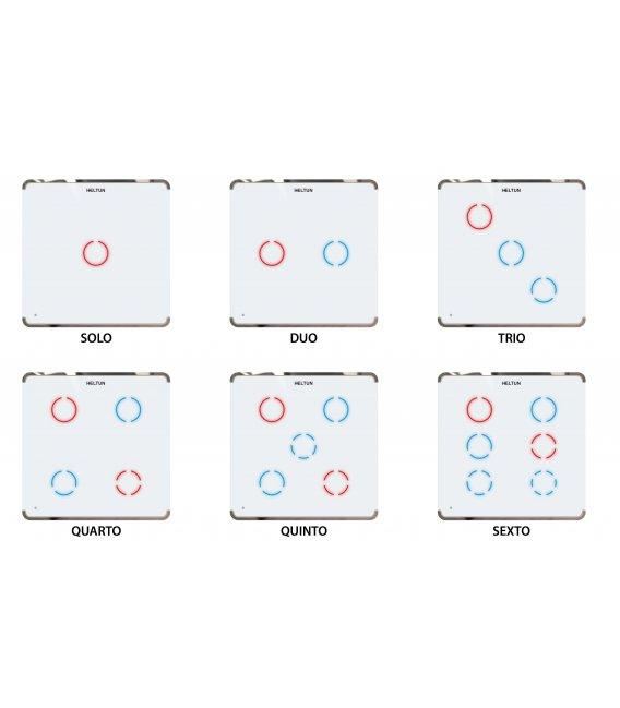 HELTUN Touch Panel Switch Trio (HE-TPS03-GKK), Z-Wave nástenný vypínač 3 tlačidlá