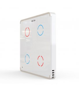 HELTUN Touch Panel Switch Quarto (HE-TPS04-WWM), Z-Wave wall switch 4 buttons, White