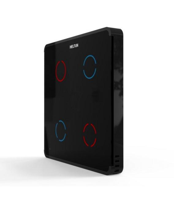 HELTUN Touch Panel Switch Quarto (HE-TPS04-GKK), Z-Wave nástěnný vypínač 4 tlačítka