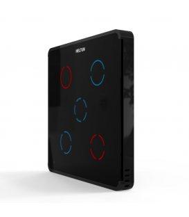 HELTUN Touch Panel Switch Quinto (HE-TPS05-MKK), Z-Wave nástenný vypínač 5 tlačidiel, Čierny