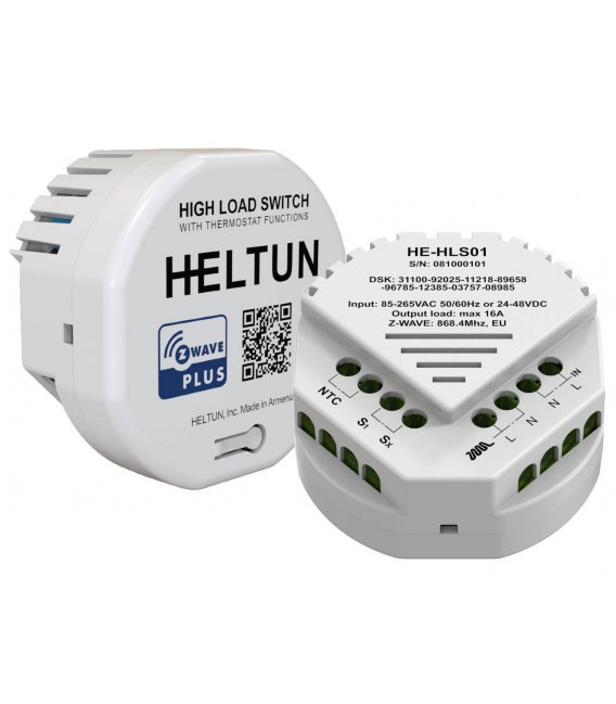 HELTUN High Load Switch (HE-HLS01), Z-Wave relay module 16A