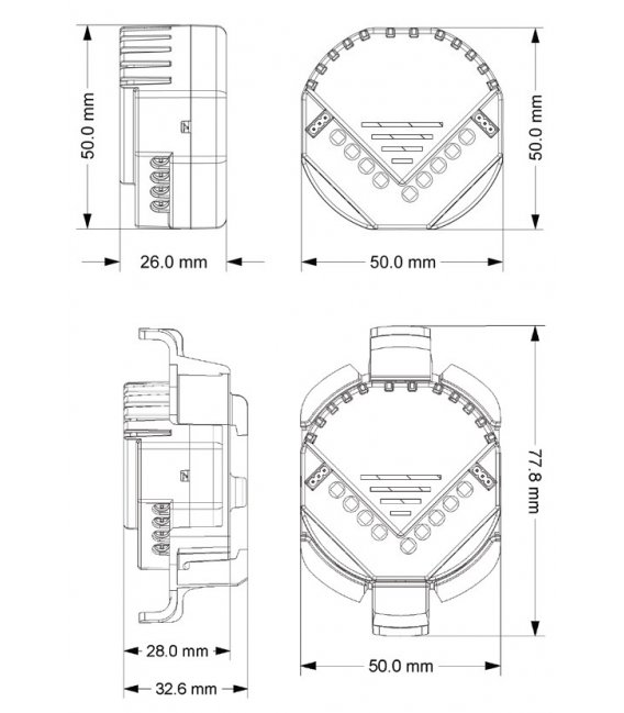 HELTUN Micro Module Adapter (HE-MMA01), Držák na DIN lištu pro relé moduly HELTUN