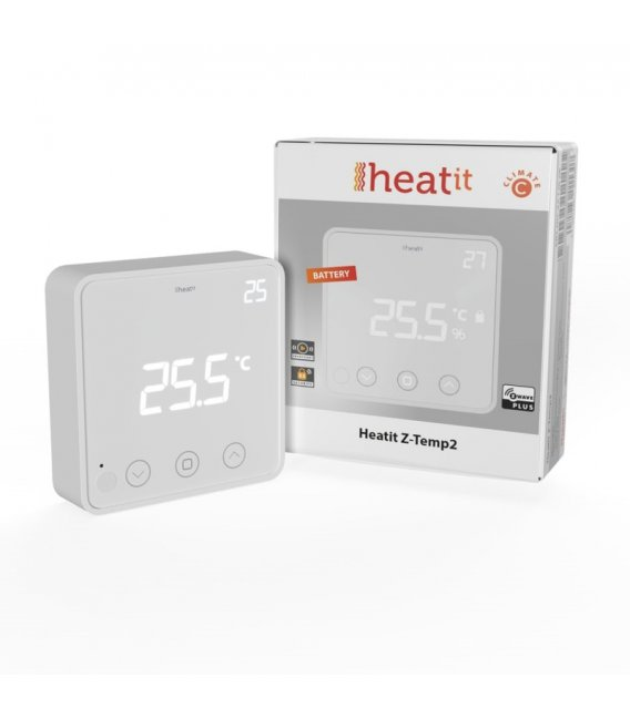 HEATIT Z-Temp2, Z-Wave battery operated thermostat